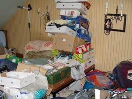 Bild einer verwahrlosten Wohnung